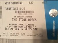 Stone roses ticket, Glasgow standing