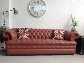 Button base Chesterfield sofa. Can deliver.