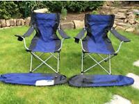 Pair of easy camp camping chairs
