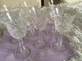 Waterford crystal wine glasses
