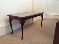 Mahogany Coffee Table & Matching Nest. £50