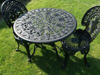 Cast Aluminium Table and Chairs