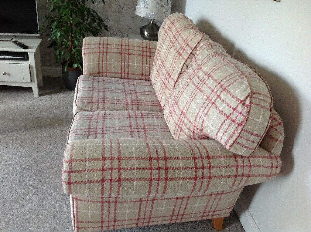 Laura Ashley Mortimer Two Seater Sofa In Keynes Check Fabric