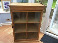 Vintage pine cabinet,cupboard display cupboard laundry unit