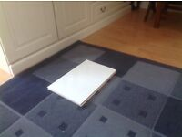 A box of ten lovely large white ceramic tiles. The size is 38 x 25 cms . Suitable for a bathroom .