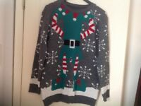 CHRISTMAS JUMPER. SIZE L. WORN ONCE.