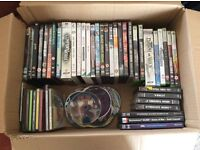 Selection C.D.s, DVD s games, some incomplete.