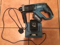 FULLY WORKING EBAUER ELECTRIC HAMMER DRILL WITH CHARGER AND TWO BATTERIES SEE PHOTOS