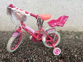 Apollo Sweetie bike 12 inch complete with handle bar tassels, seat for dolly and bag