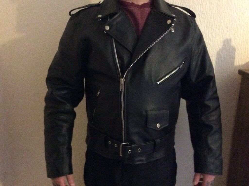 1950s marlon Brando style leather jacket