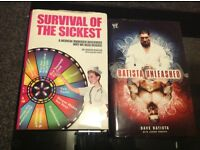 5 WWE book series 1hardback 4paperbacks and survival of the sickest book