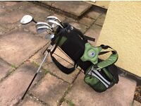 Child's Golf Clubs And Bag