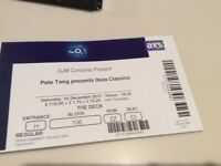 2 tickets for Pete Tong Ibiza Classics O2 Saturday 16 December 17