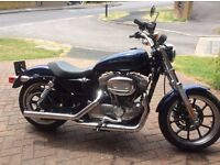 Harley Davidson sportster 883cc with screen and personalised no plate C11 OAP