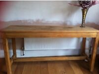 """Beautiful pine butchers table. Height 36"""". 915mm Length 72"""" 1830mm Width 24"""" 610mm"""