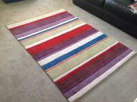Multi coloured rug