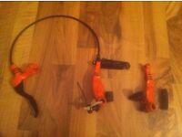 1 x Wendler by star bike Hydraulic front rim brake rare retro mtb xc trials etc