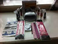 complete nail set including uv lamp