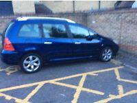 2006 Peugeot 307 1.6cc diesel 7 seater mot until 2018 drive away few issues £500 easy fix