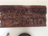 Fantastic 4 foot by 2 foot wooden carving