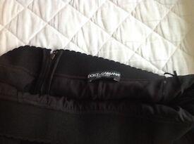 Black DOLCE and GABBANA calf length skirt
