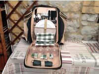 Superb quality 4 person picnic backpack by Concept International Unwanted gift never used