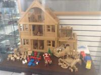 Children's play doll house