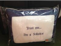 Solicitor or barrister? BRAND NEW ITEMS - 2 x Silk Cushions & 6 x Mounted Prints