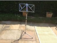 Fold up music stand for sheet music. £3