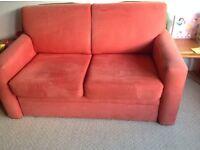 John Lewis suede sofa bed