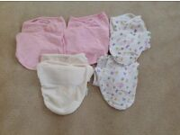 SwaddleMe Girls bundle from 0-6 months - 7 items