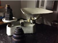 Old style kitchen scales