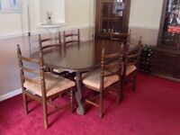 8 Seater Dining Table with 8 Chairs