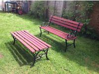 Garden seat and bench £50 o.v.o