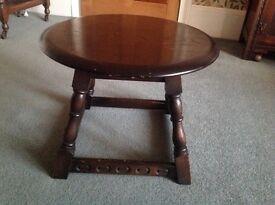 Ercol Dark Oak Circular Coffee Table.