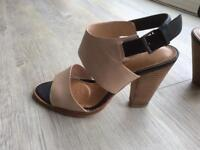 Clark's size 5 shoes, tan, used