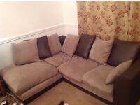 Right Angle Fabric Corner Sofa