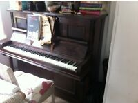 Upright piano, good condition, free to collector