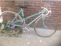 Vintage Ladies Raleigh Road /Racing bike 10 sp