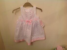 Girls white/pink dress