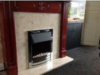 Marble base and back Fire place with suround eclectic £150 ovno