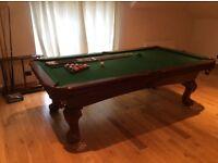 Classic full size Mahogany billiard table