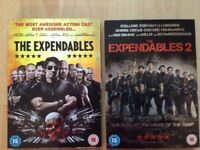 The Expendables DVD & The Expendables 2 DVD.