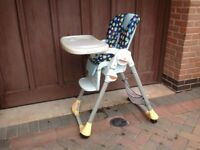 Chico high chair cost £100 sell £35 can deliver if f you like ve local call 07812980350
