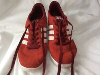 Men's red suede Adidas Neo trainers (UK 9)