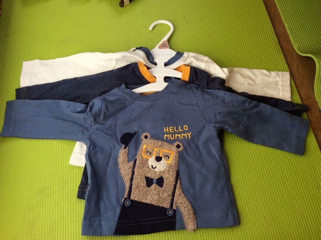 Brandnew 3 sets of tops for baby boys are only for5in Cambridge, CambridgeshireGumtree - Brandnew 3 sets of tops for baby boys are only for £5