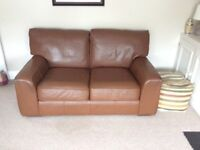Leather 2 seater (brown) Marks & Spencer sofa