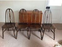 Old Charm Style set of 4 Dining Chairs