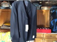 Next Mens navy blue wool suit ( new with tags)