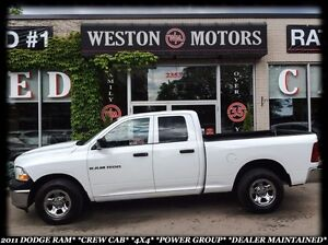 2011 Dodge Ram 1500 CREW CAB*4X4*POWER GROUP*DEALER MAINTAINED*